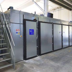 Impianto Forno industriale per trattamento polimerizzazione gomma